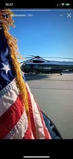Kan een afbeelding zijn van helikopter en de tekst '10:27 danscavino 19m'