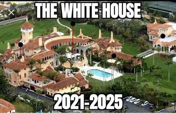 Kan een afbeelding zijn van de tekst 'THE WHITE HOUSE 2021-2025 2021'